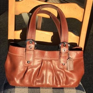 Coach Pleated Soho Brown Leather Purse